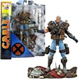 Diamond Select Toys Year 2014 Marvel Series Special Collector Edition 7-1/2 Inch Tall Action Figure - CABLE with Blasters, Rifles and Display Base