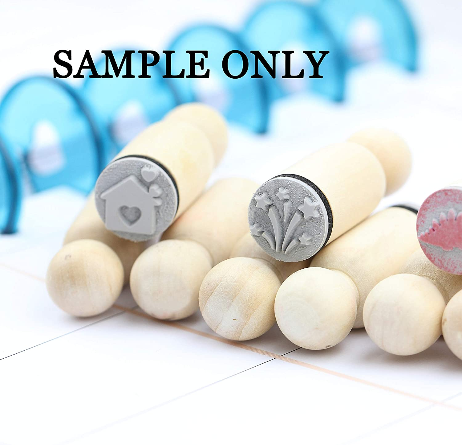 S138 16mm 20mm Mini Stamps Planner Stamp Insects Stamp Worm Rubber Stamp