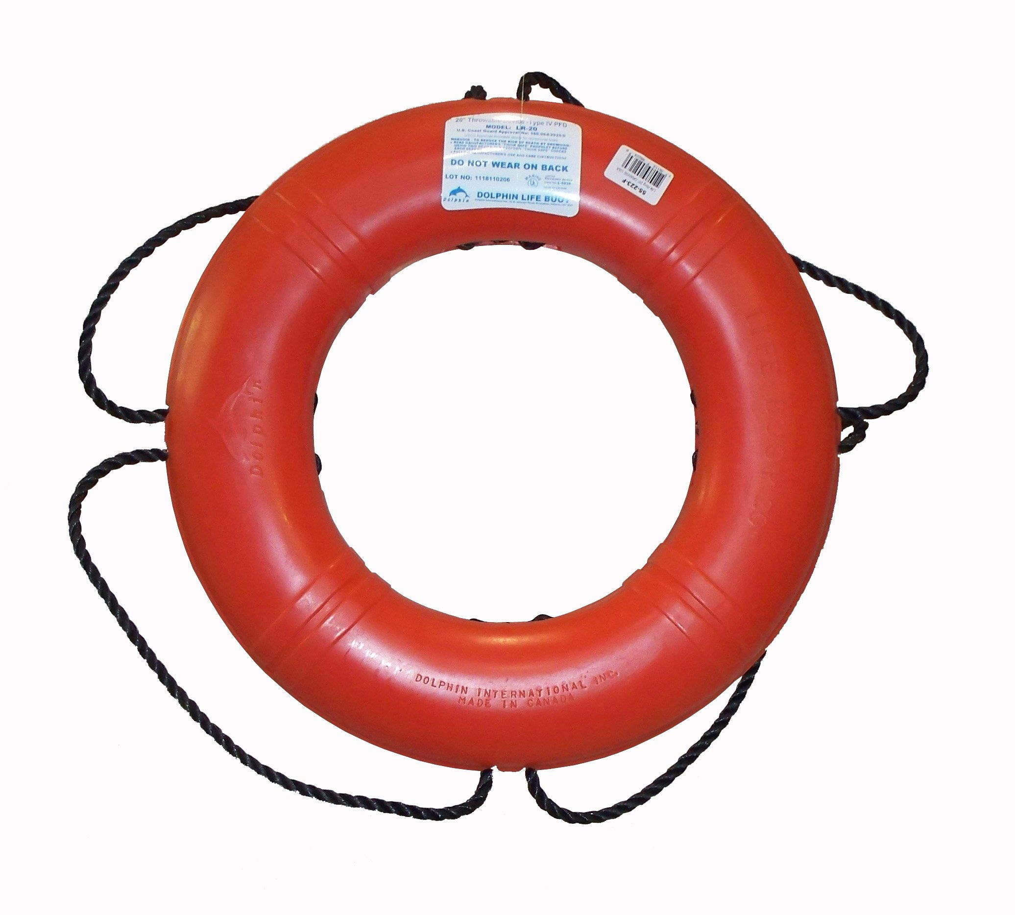 Dock Edge + Inc. USCGA Approved Life Ring Buoy (Orange, 24-Inch) by Dock Edge