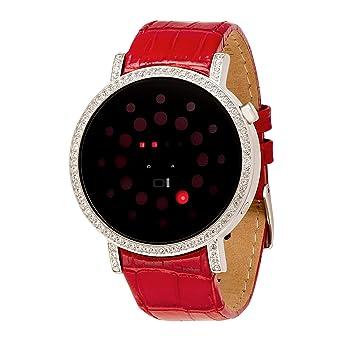 Binary THE ONE Odins Rage ORS502R1 - Reloj digital de mujer de cuarzo con correa de piel roja - sumergible a 30 metros: Amazon.es: Relojes