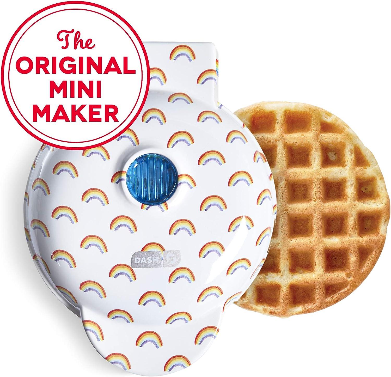 DASH DMW100RP Mini Maker-Waffle, WHITE RAINBOW