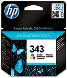 HP 343 Cartouche d'Encre Trois Couleurs (Cartouche Cyan, Magenta, Jaune) Authentique (C8766EE)