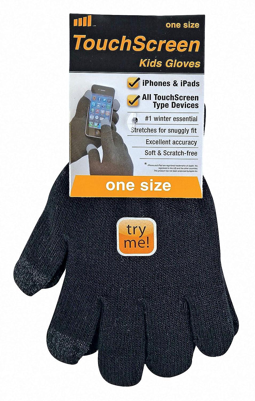 Negro, One Size Sock Snob Ni/ño//Ni/ña Finos Calientes Guantes Tactiles de Invierno para Iphone
