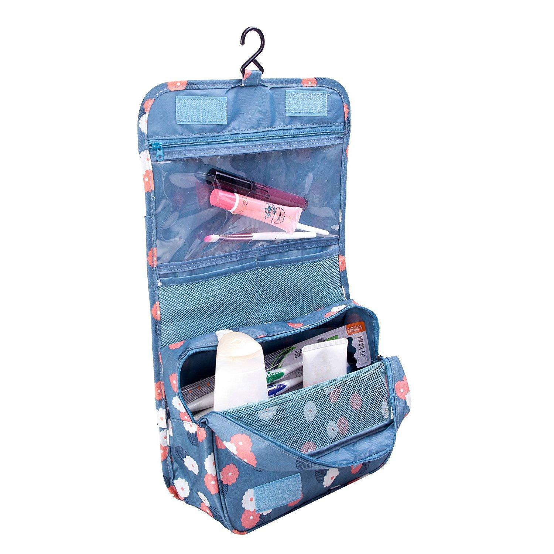 caa48607304 Amazon.com   Cosmetic Storage Bags, Arricastle Waterproof Portable Travel Wash  Bag Women s Toiletry Bag large-capacity Carry Makeup Cosmetics Kit Organizer  ...