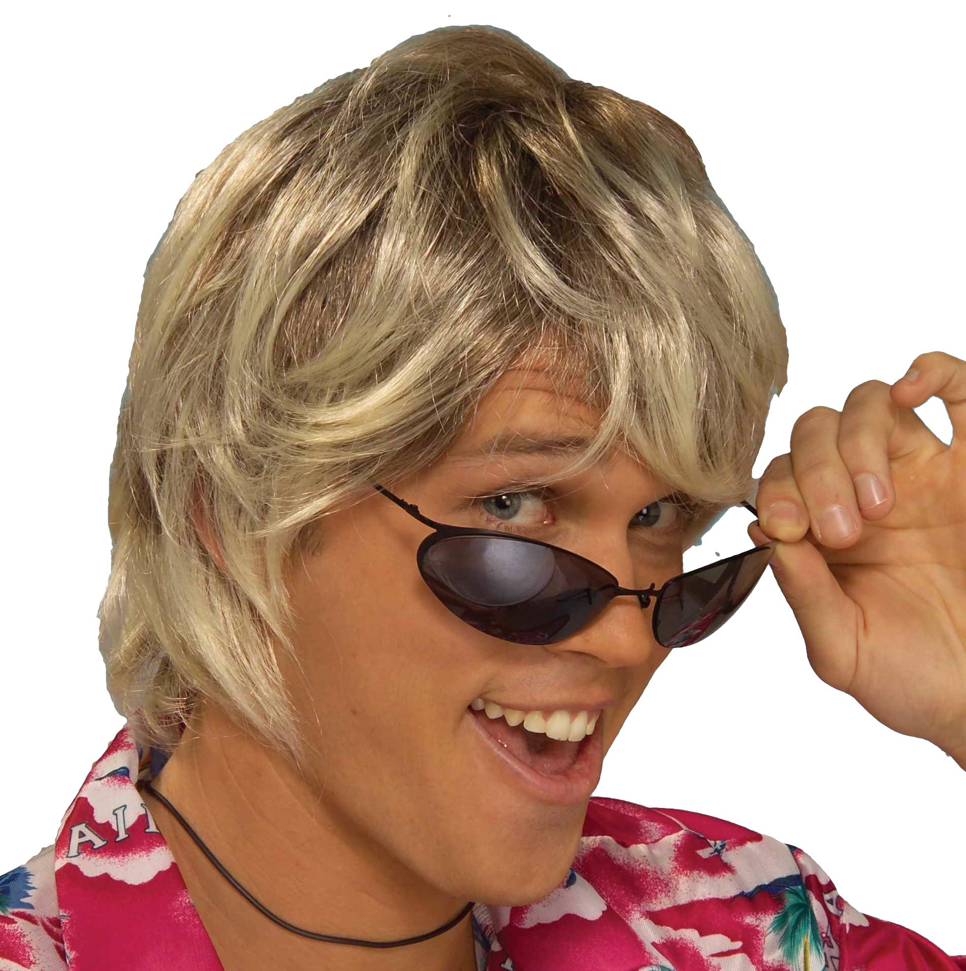 Forum Novelties Men's Surfer Bum Costume Wig, Blonde, One Size by Forum Novelties (Image #1)