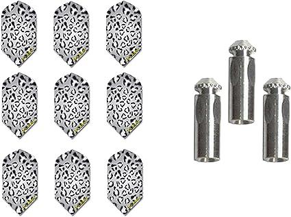 New RUTHLESS BLACK STRIPE SLIM Darts Flights 3 Set of 3 Steel or Soft Tip