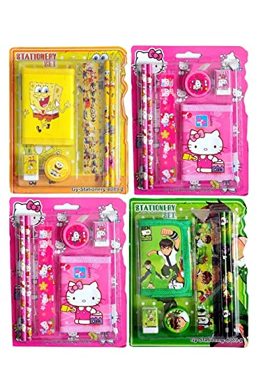 Jiada Return Gifts Birthday Party Pack Of 12 Mix Stationery Kit Set