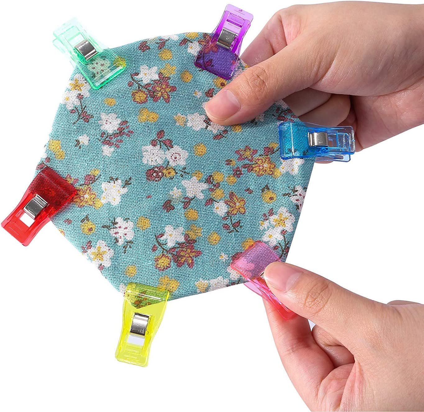 Sewing Accessories Craft Clips Set for Embroidery//Sewing//Crochet//DIY 9 Colours Queta Sewing Clips 120pcs Plastic Sewing Fabric Clips