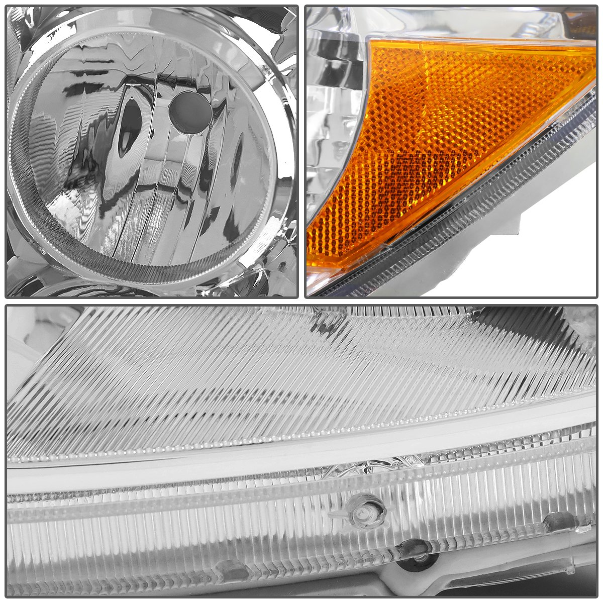 For Toyota 4runner N210 4th Gen Pair Of Chrome Housing 1992 Projector Lights Amber Corner Headlight Automotive