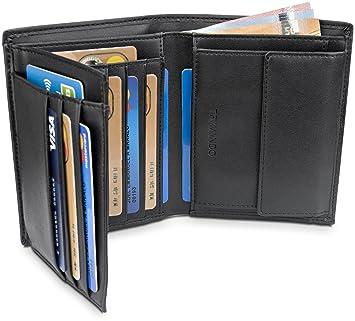 TRAVANDO Monedero Monedero Lima RFID Portmonaise Monedero Grande del Monedero de la Cartera Retrato públicamente (Negro): Amazon.es: Equipaje