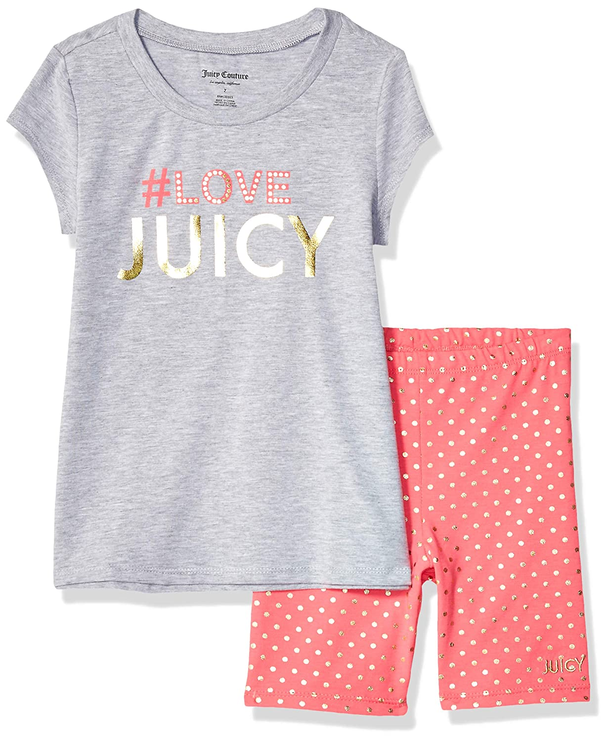 Amazon.com: Juicy Couture - Pantalones cortos para niña (2 ...