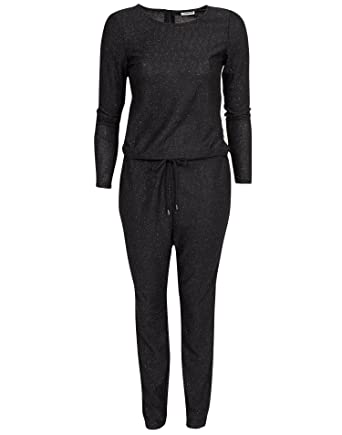 f2138c43f7bf Noisy May Women s Nmglam Kelly Jumpsuit Black Size Large 83% polyester