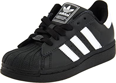 1feb27a631 adidas Originals Superstar 2 Sneaker (Little Kid/Big Kid),Black/White