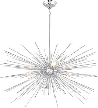 Aa Warehousing Lz1206 6c 6 Light Sputnik Chandelier Chrome Finish Amazon Com