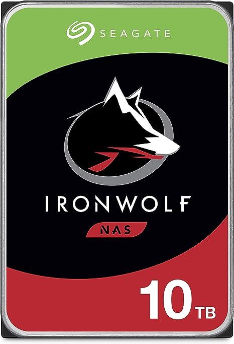 Seagate IronWolf, 10 TB, NAS, Unidad de disco duro interna, HDD, 3 ...