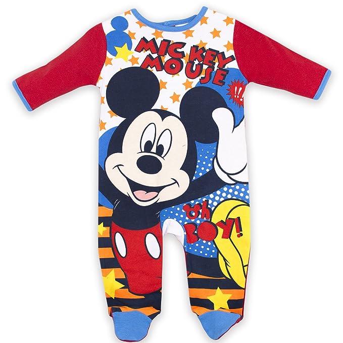Mickey Mouse - Pelele para dormir - para bebé niña rojo rosso 0-3 Meses
