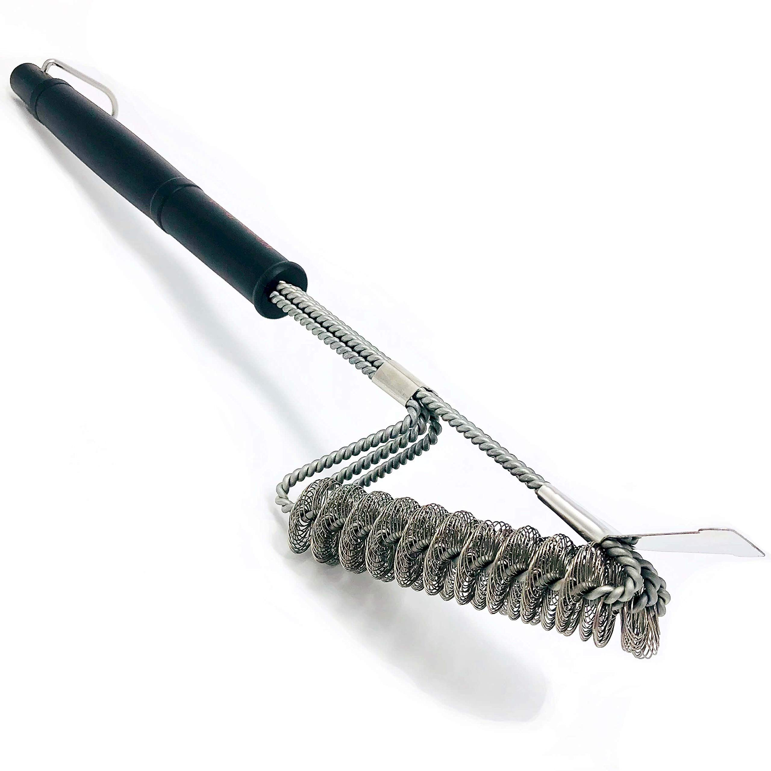 KitchenReady Grill Brush & Scraper Bristle Free Design, Safe BBQ Grill Cleaner, Made with Premium Stainless Steel Coils by KitchenReady