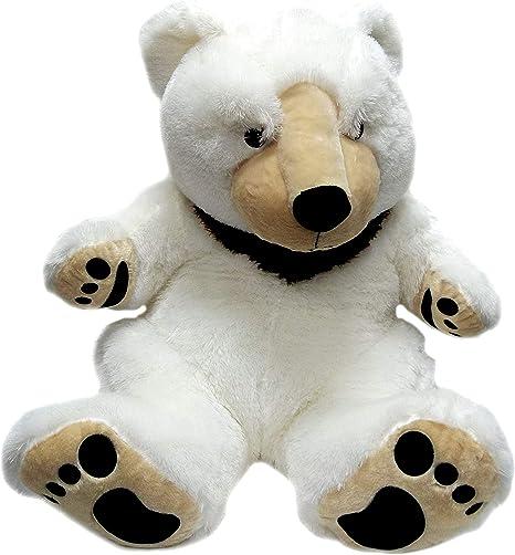 Sunbear Stuffed Animal, Jumbo White Sun Bear With Big Foot Paws Giant Stuffed Animal Plush Toy Gifts Of All Age 46 Animals Amazon Canada