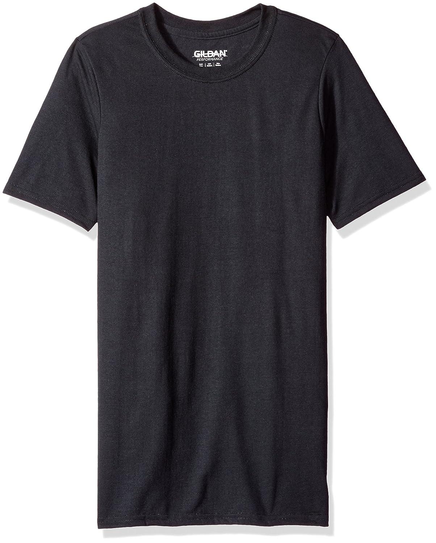 Gildan メンズTシャツ コアパフォーマンス B00BFSAHSQ XXXL|ブラック ブラック XXXL