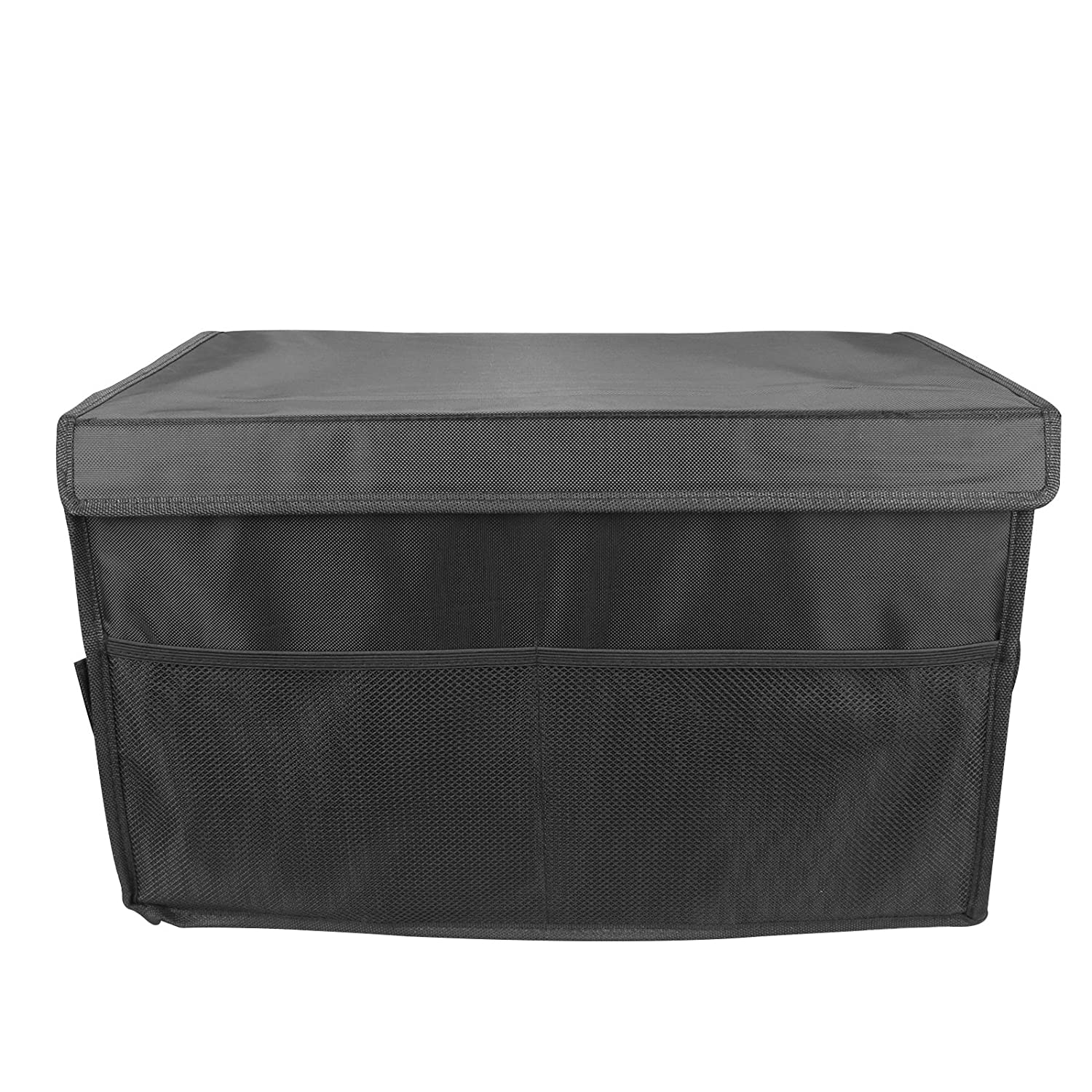 Black-Style 4 Mrcartool Car Trunk Organizers Auto Travel Foldable Container Waterproof Travel Storage Box Bin 3 Compartments 2 Pockets Fabric Storage Basket Cooler /& Warmer Set