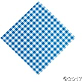 "Blue Gingham Luncheon Napkins 6 1/2"", 48 Count"