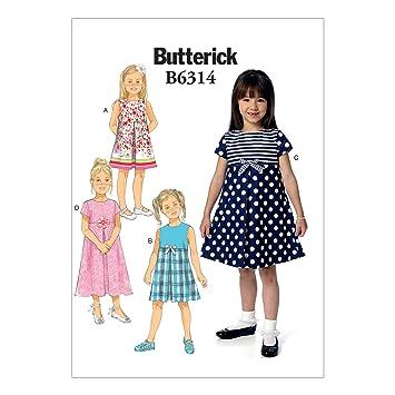 Butterick Schnittmuster Kinder/Mädchen Kleid, Größen 2–5: Amazon.de ...