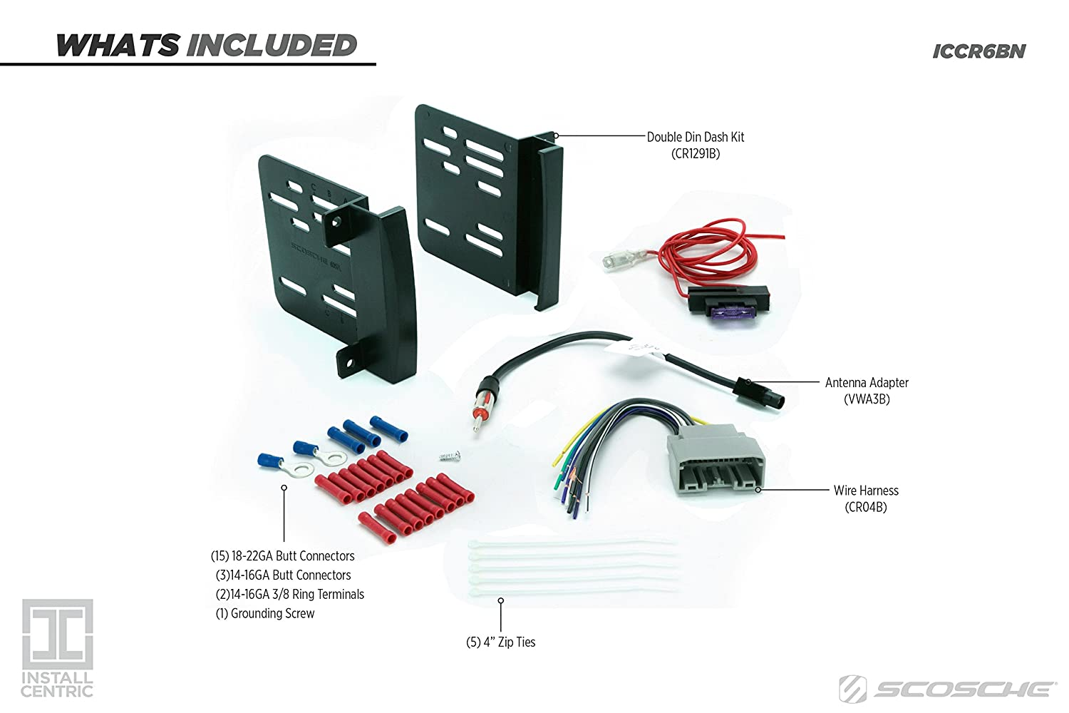 Install Centric Iccr6bn Chrysler Dodge Jeep 2007 14 Double Din Wiring Harness Complete Installation Kit Car Electronics