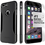 iPhone 7 Plus Case, SaharaCase® Protective Kit Bundle with [ZeroDamage® Tempered Glass Screen Protector] Premium Finish Slim Fit [Reinforced Shockproof Bumper] Rugged Protection (Black)