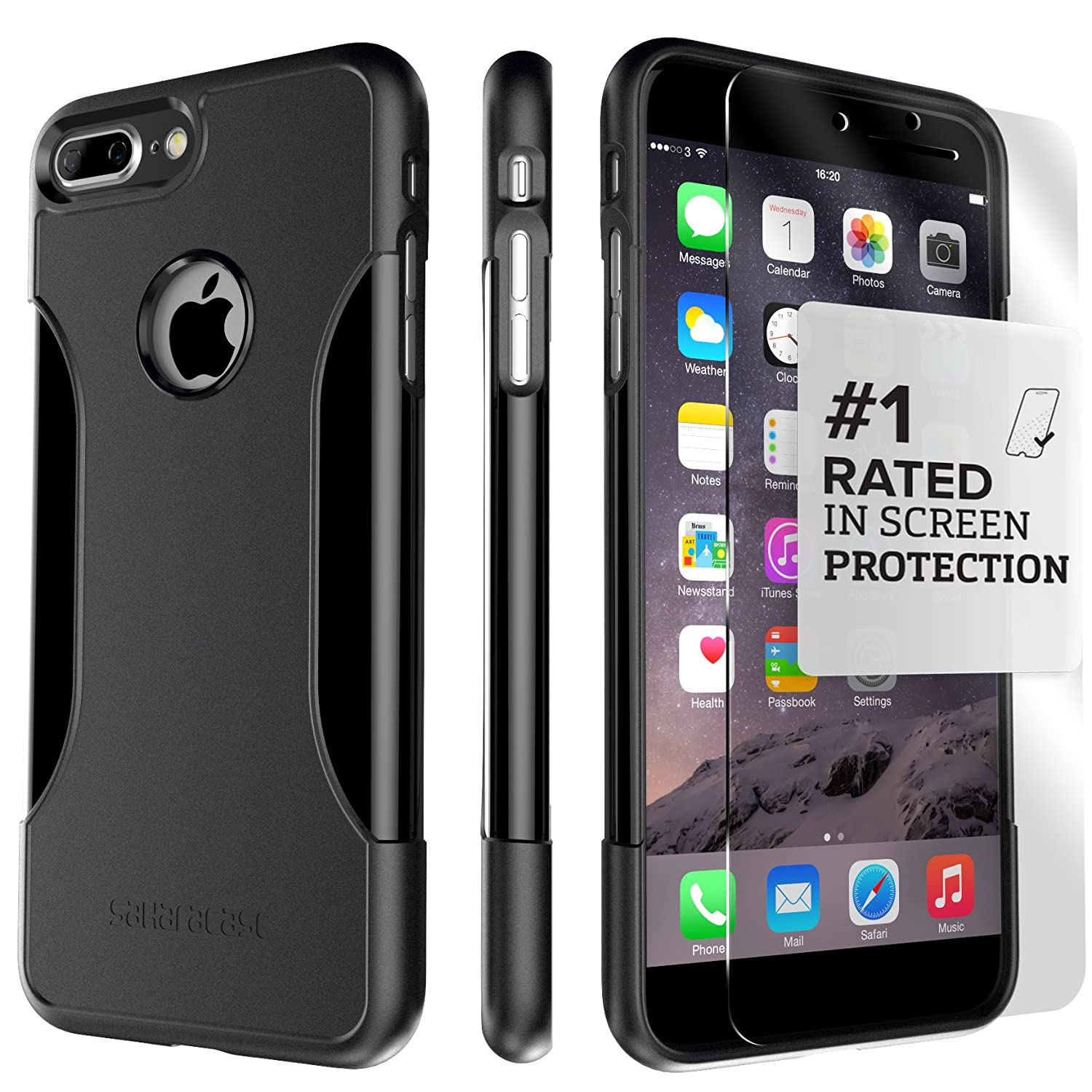 Saharacase iphone 6 6s crystal clear case rose gold edge saharacase - Amazon Com Iphone 7 Plus Case Iphone 8 Plus Case Saharacase Protective Kit Bundled With Zerodamage Tempered Glass Screen Protector Black Case For Apple