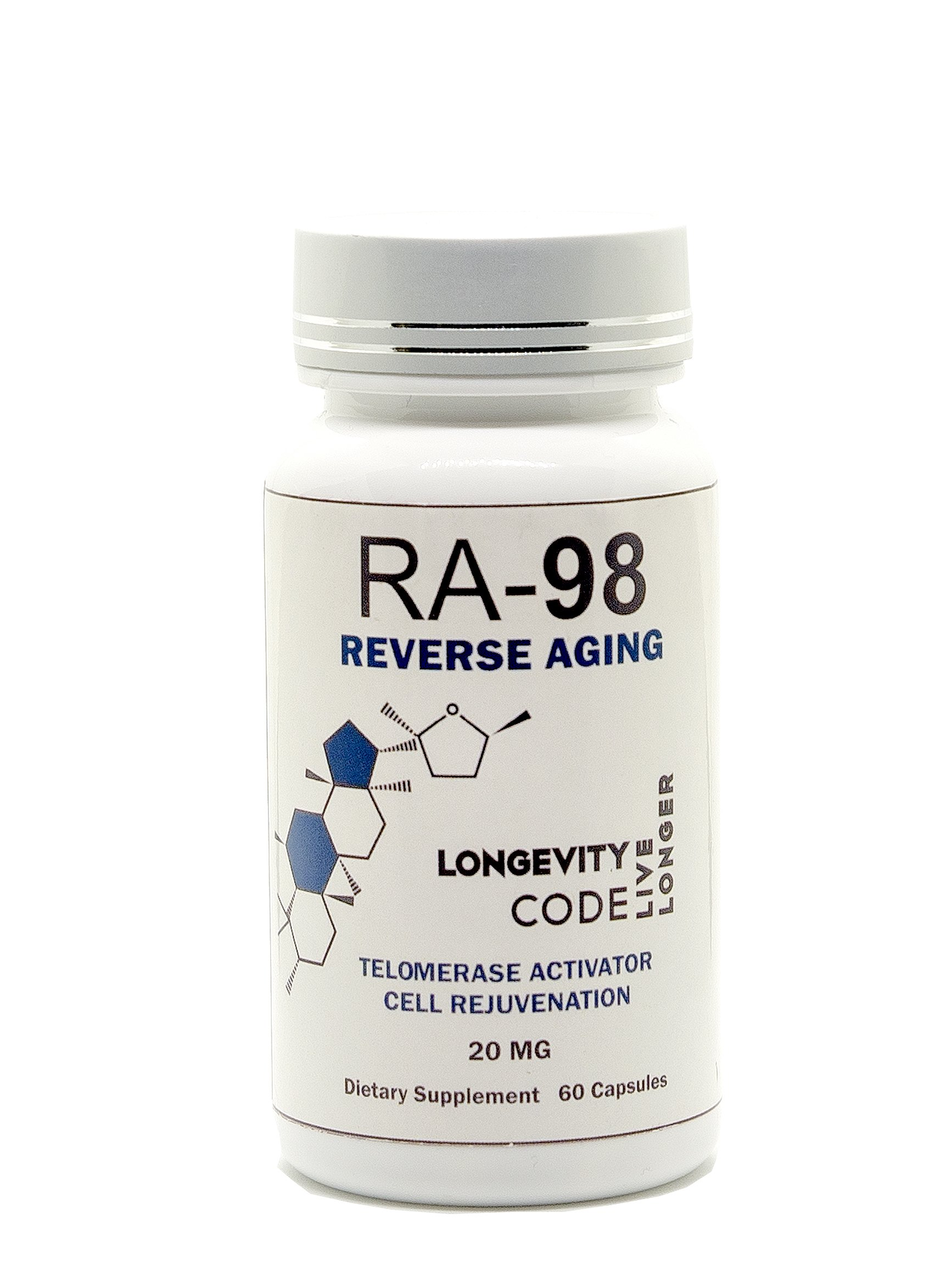 RA-98 Reverse Aging 20mg, 60 Capsules (60)