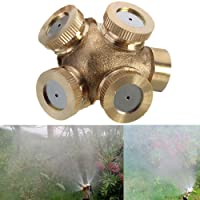 Futaba 4 Hole Brass Spray Misting Nozzle Gardening Sprinklers - Female/ Internal Thread