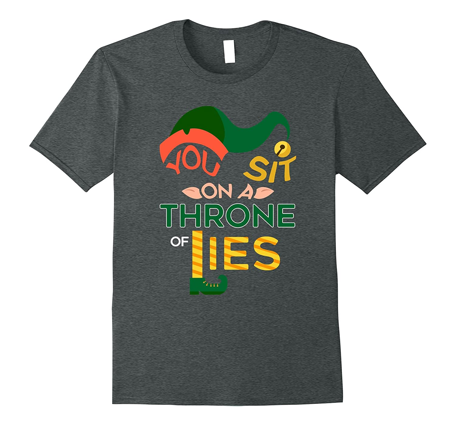 You Sit On A Throne Of Lies Christmas T-Shirt-Rose