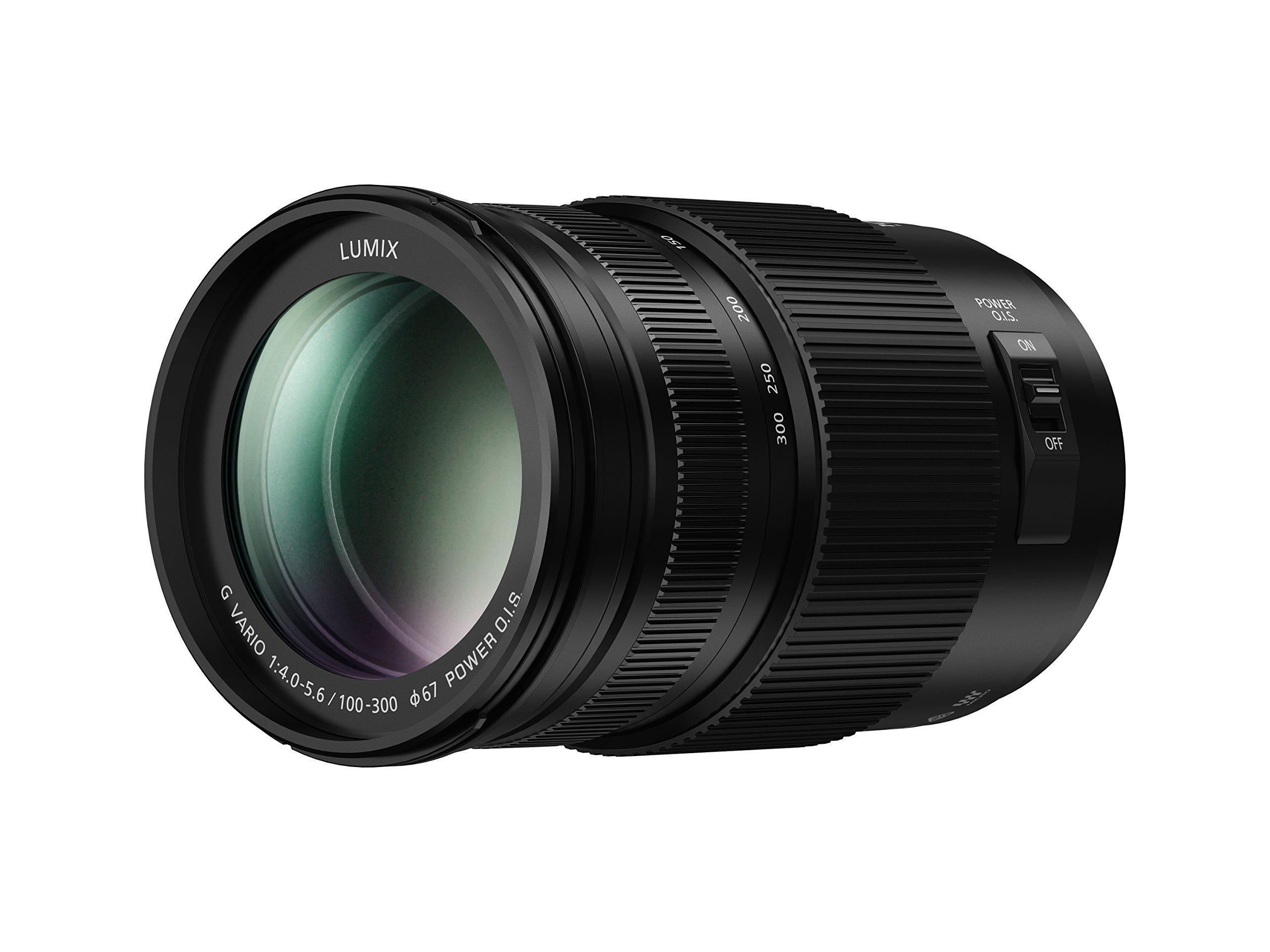 PANASONIC LUMIX G II Vario Lens, 100-300MM, MIRRORLESS Micro Four Thirds, Power O.I.S, H-FSA100300 (USA Black) (Renewed) by Panasonic