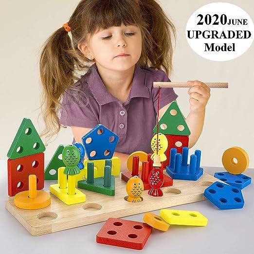 Shape Sorter Conteggio Gioco Geometric Sorting Board Giocattoli educativi per bambini Toddlers Stacker Blocks Toy Stacker