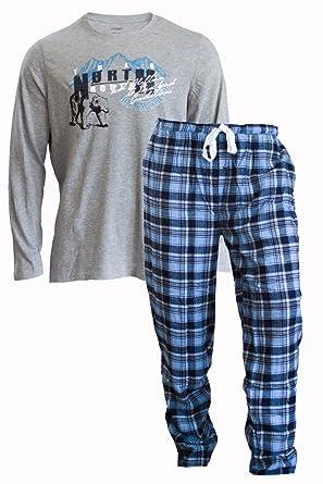 6462df57074869 Produktname: Herren Flanell Pyjama Schlafanzug Nachtwäsche Oberteil + Hose  (L 52/54,