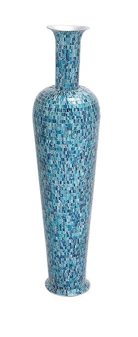 Amazon Deco 79 The Bright Metal Mosaic Vase Turquoise Home
