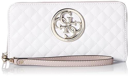 G-Lux Large Zip Around - White/Multi Wallet, One Size
