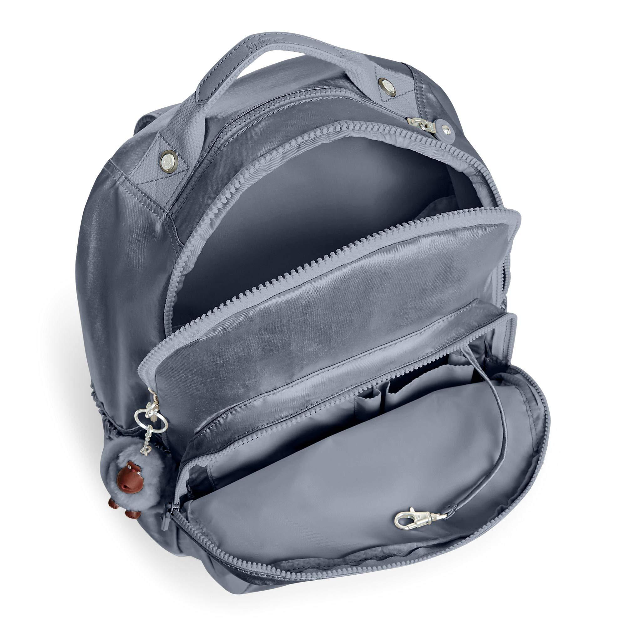 Kipling Seoul Go Large Metallic 15'' Laptop Backpack One Size Steel Grey Metallic by Kipling (Image #3)