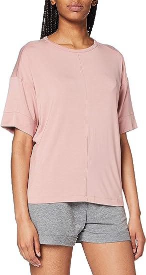 Calvin Klein S/S Curve Neck Top de Pijama para Mujer