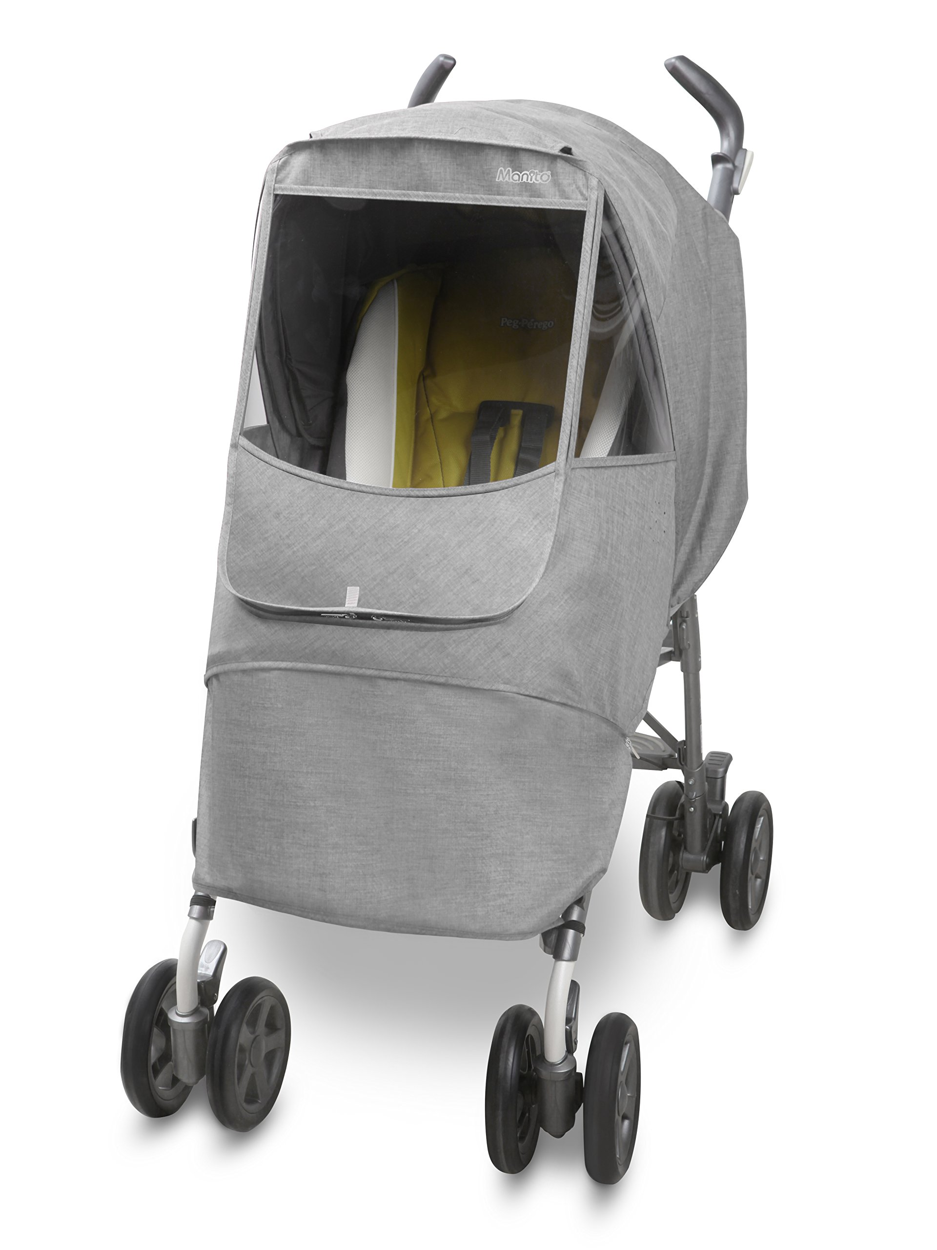 Manito Melange Alpha Stroller Weather Shield (Light Grey)