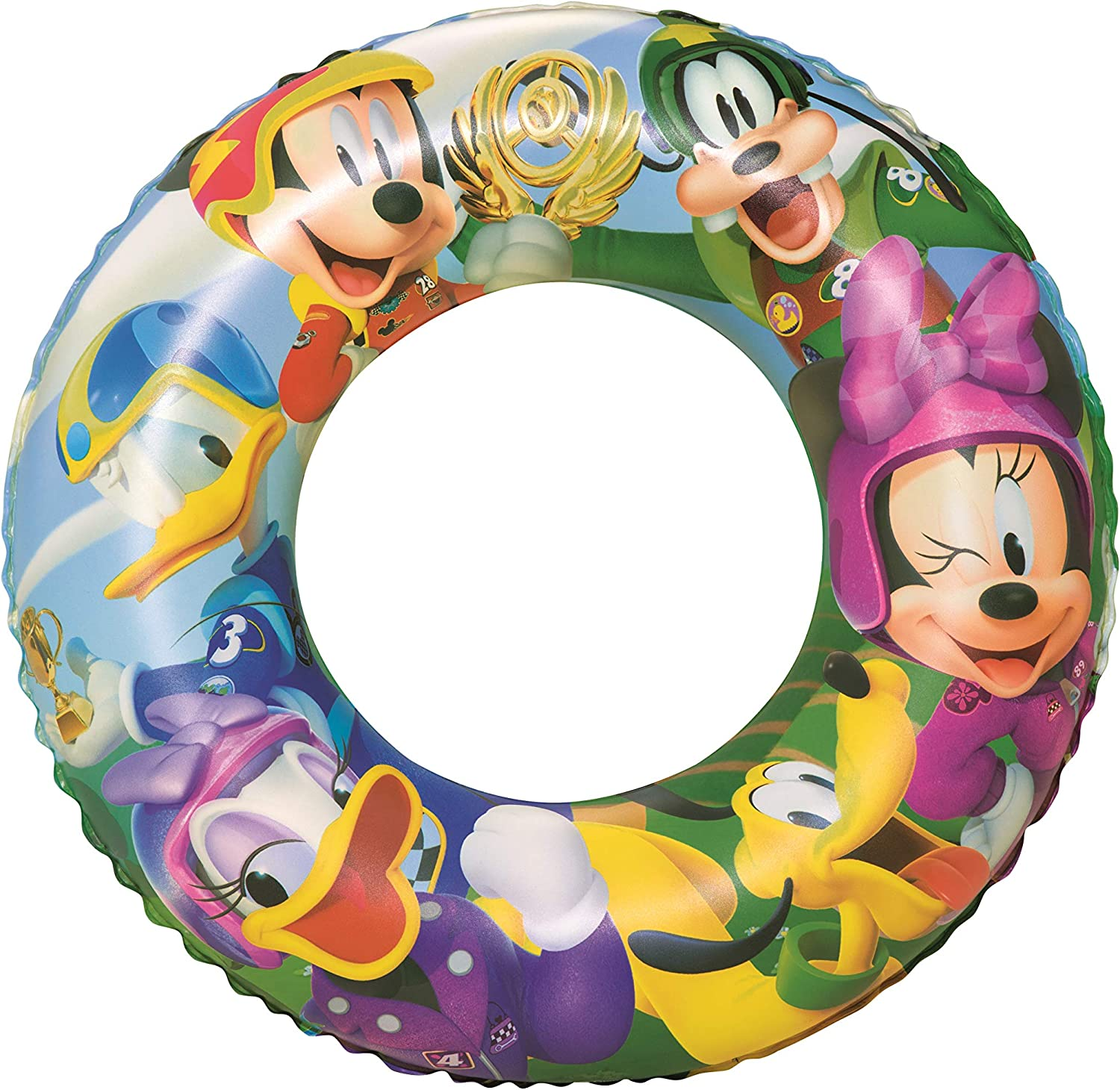 Bestway 91004 - Flotador Hinchable Infantil Mickey and the Roadster Racers 56 cm