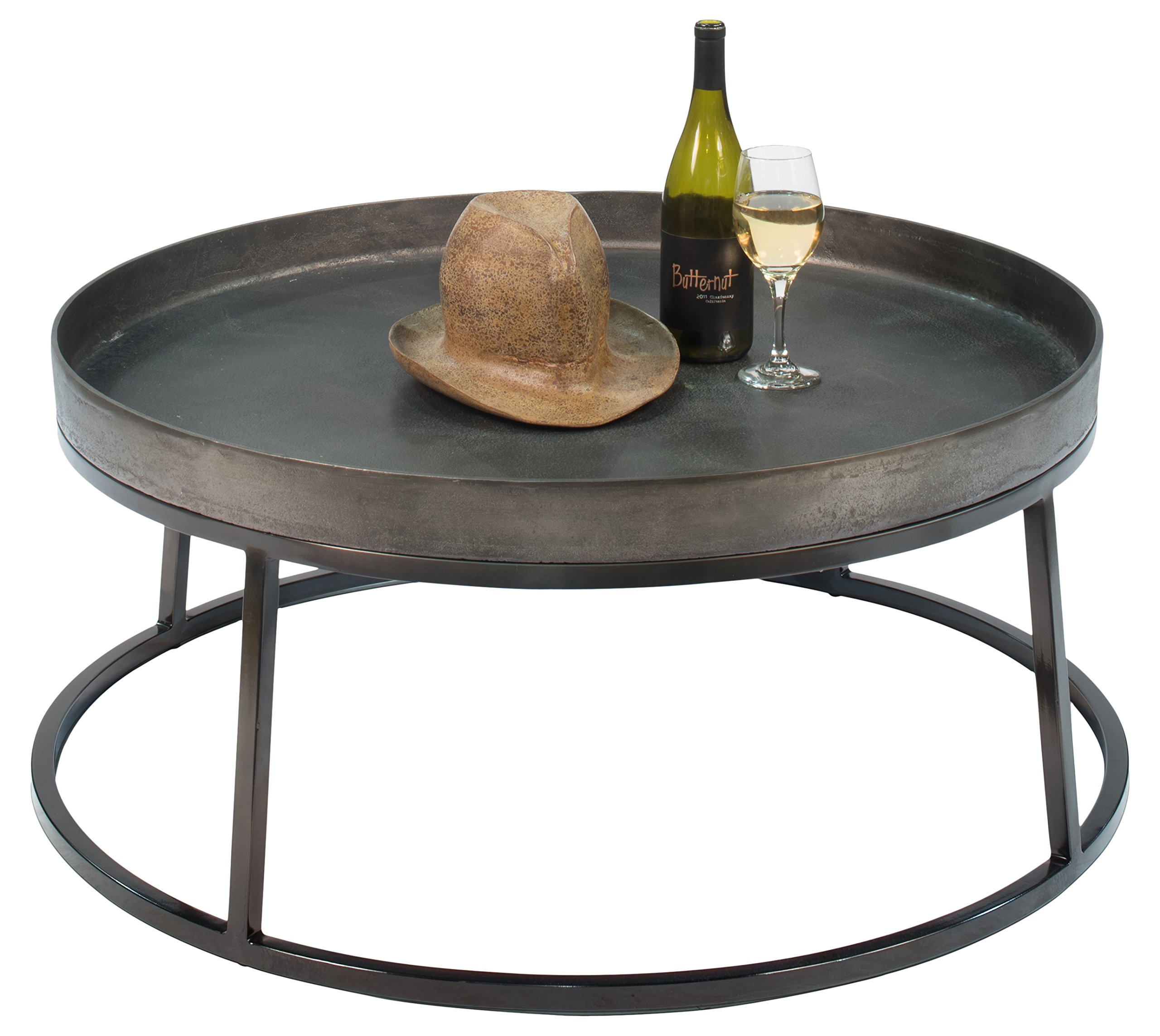 """Sarreid 30662 Games Marble Coffee Table - Made in China. Black; Manufactures All Furniture Products Aluminum ; Steel coffee ; tables ; furniture 35"""" Depth x 16"""" Height - living-room-furniture, living-room, coffee-tables - 81%2B0LymijtL -"""