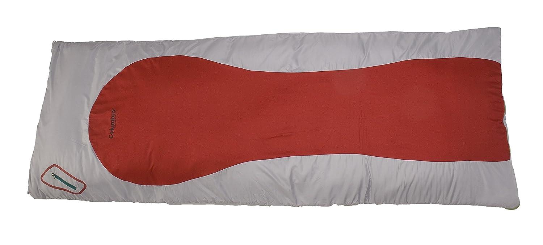 Columbus Auckland 200 Saco de Dormir, Unisex Adulto, Gris/Rojo, Talla Única: Amazon.es: Deportes y aire libre