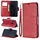 Lomogo Xiaomi Redmi 7 / Y3 Case Leather Wallet Case with Kickstand Card Holder Shockproof Flip Case Cover for Xiaomi Redmi7 / Redmi Y3 - LOBFE150644 Red