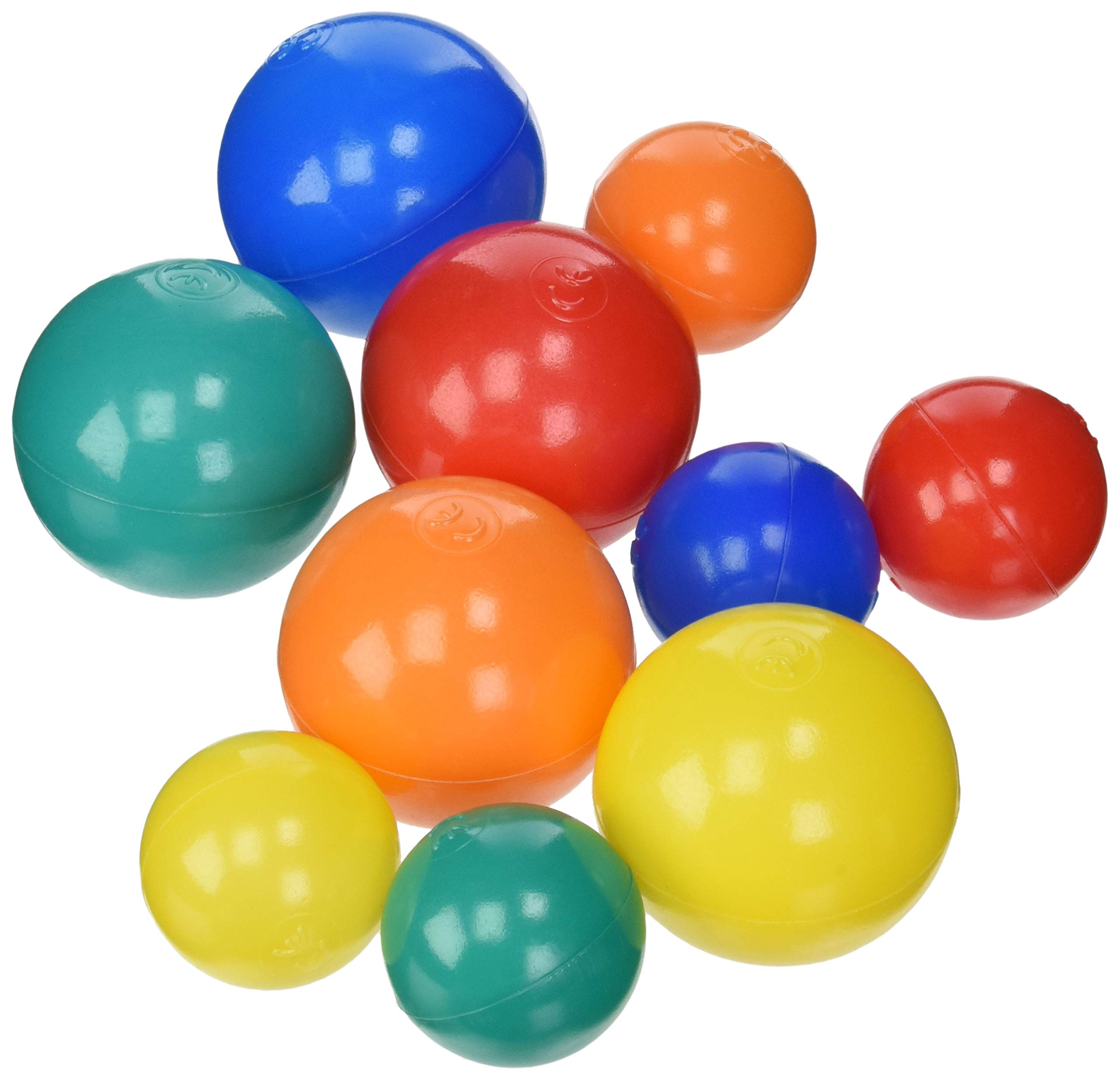 Sammons Preston Assorted Pool Balls, Set of 300, 2'' and 3'' Diameter Balls, Replacement Soft Plastic Pool Balls in Multiple Colors for Fun Children's Ball Pits, Crush Proof Plastic Ball, Various Colors by Sammons Preston (Image #1)