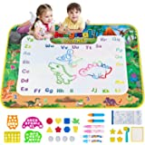 Obuby Water Magic Mat Kids Doodle 58 x 42 Inches Extra Large Dinosaur Drawing Coloring Mats Educational Toys Gifts for…