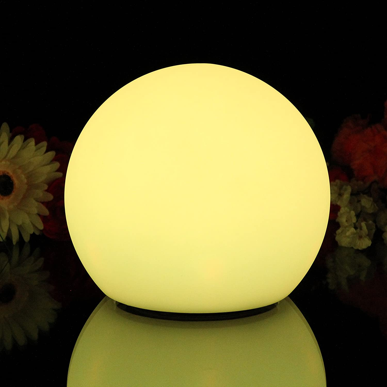 Wasserdichte LED Kugel Stimmungslicht Schwimmkugel mit Farbwechsel und Fernbe nung 25cm von PK Green Amazon Beleuchtung
