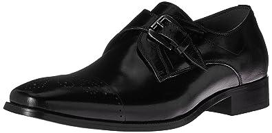 61be7ebb763 STACY ADAMS Men s Kimball-Cap Toe Monk Strap Slip-On Loafer Black 7 M
