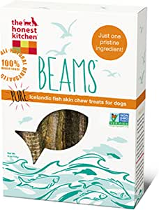 The Honest Kitchen Beams Grain Free Dog Chew Treats - Natural Human Grade Dehydrated Fish Skins 4 oz Small