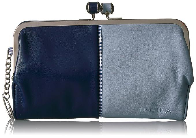 Amazon.com: Nautica Le Mar RFID Soft Frame Embrague cartera ...